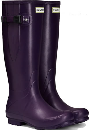 Image of Womens Hunter Norris Field Adjustable Boots - Dark Iris UK 6