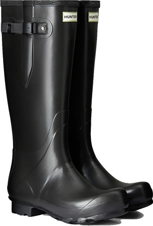 Image of Mens Hunter Norris Field Adjustable Wellington Boots - Slate UK 9