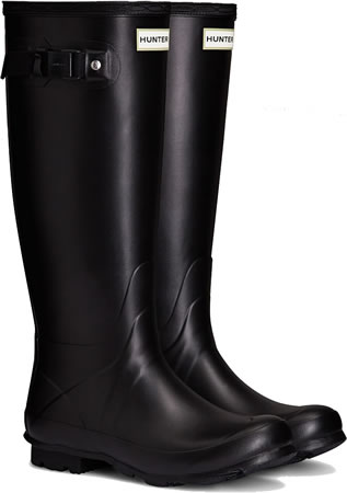 Image of Womens Hunter Norris Field Neoprene Wellington Boots - Black UK 8