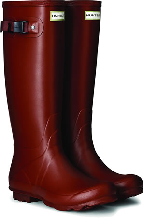 Image of Womens Hunter Norris Field Neoprene Wellington Boots -Burnt Sienna UK 6
