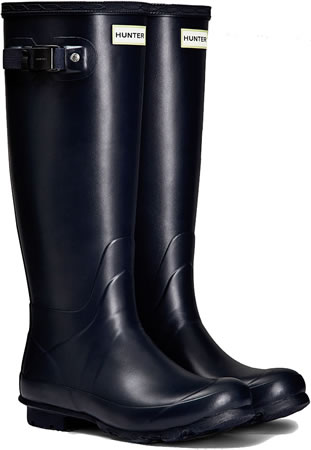 Image of Womens Hunter Norris Field Neoprene Wellington Boots - Navy UK 6