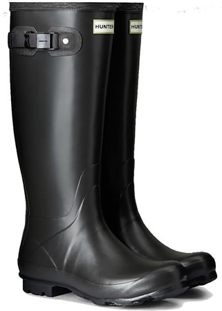 Image of Womens Hunter Norris Field Wellington Boots - Slate UK 5