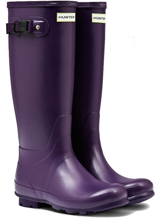 Image of Hunter Norris Field Neoprene Wellington Boots - Dark Iris UK 7