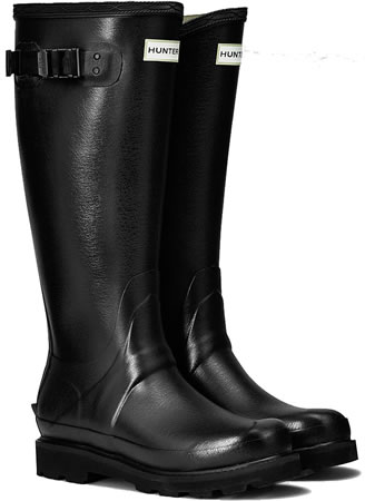 Image of Womens Hunter Field Balmoral Wellington Boots - Black UK 7