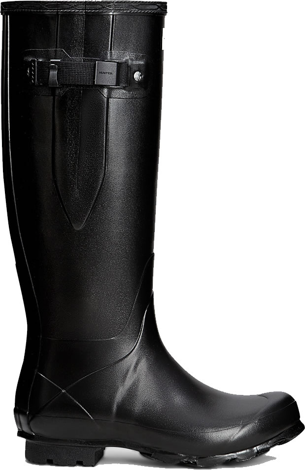 Extra image of Womens Hunter Norris Field Adjustable Wellington Boots - Black UK 7