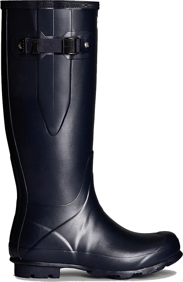 Extra image of Mens Hunter Norris Field Adjustable Wellington Boots - Navy UK 10