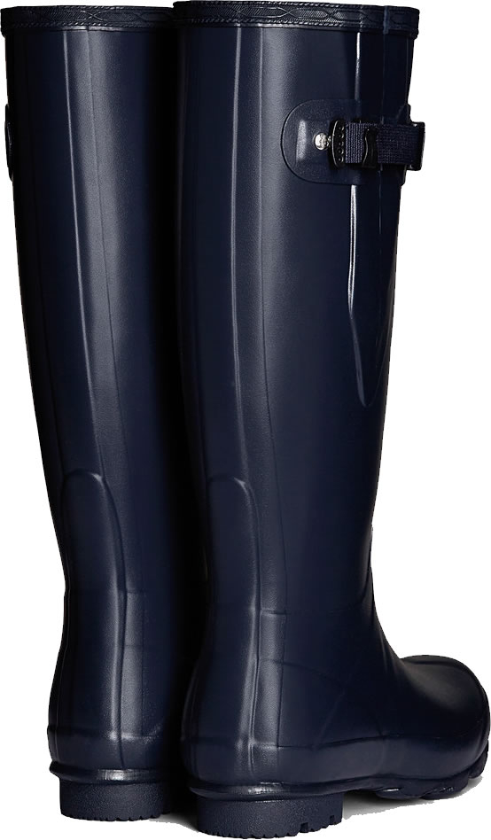 Extra image of Mens Hunter Norris Field Adjustable Wellington Boots - Navy UK 9