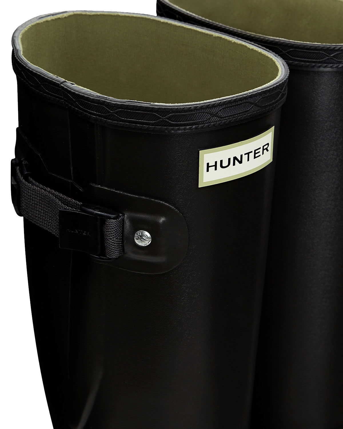 Extra image of Mens Hunter Norris Field Adjustable Wellington Boots - Slate UK 9