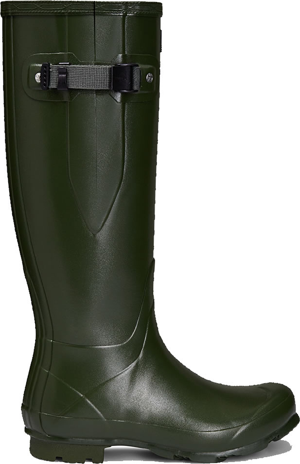 Extra image of Mens Hunter Norris Field Adjustable Boots - Vintage Green UK 7