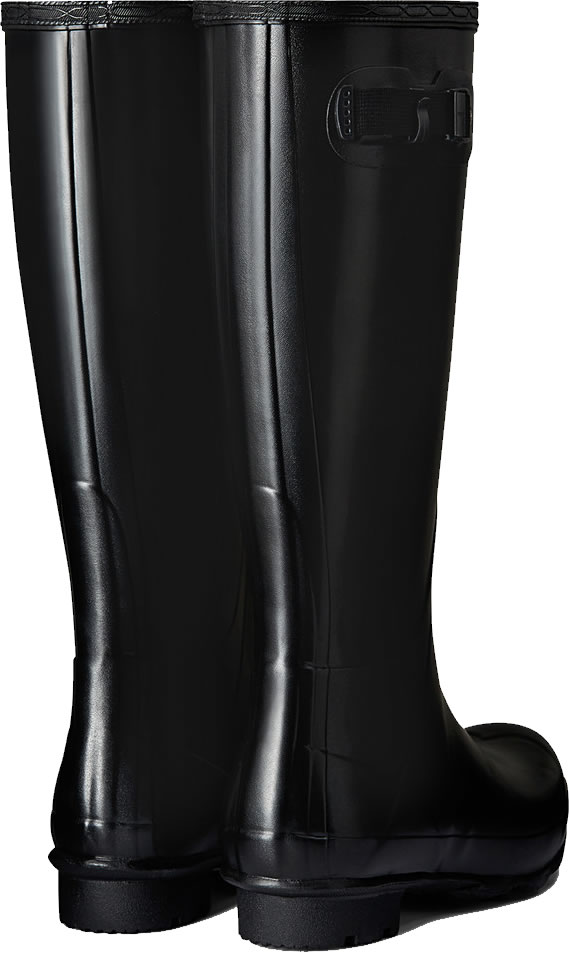 Extra image of Mens Hunter Norris Field Wellington Boots - Black UK 10