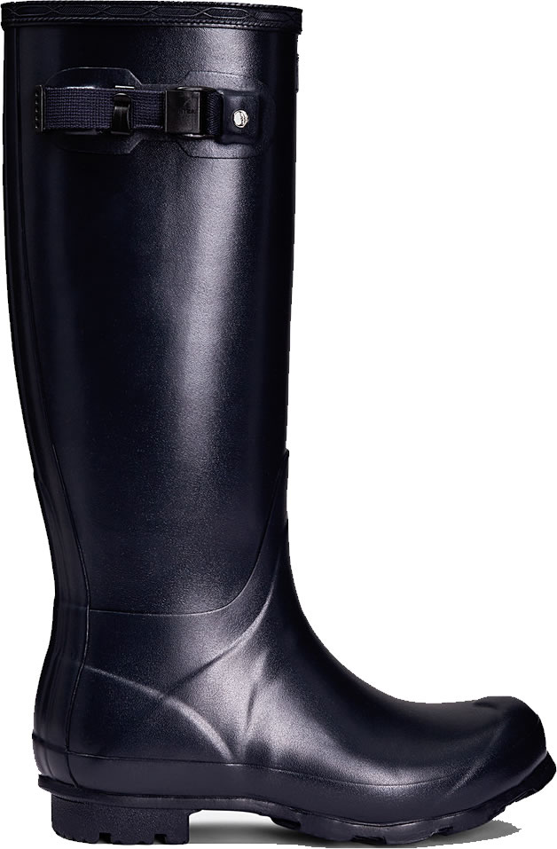 Extra image of Mens Hunter Norris Field Wellington Boots - Navy UK 7