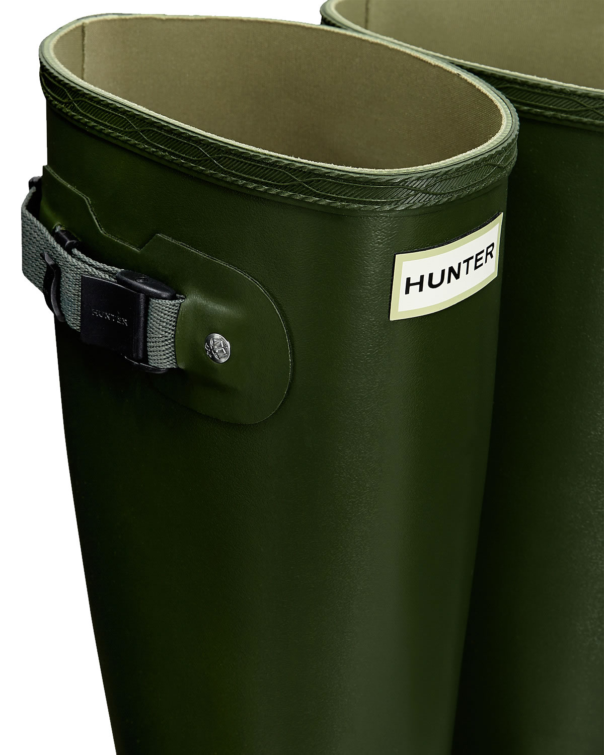 Extra image of Mens Hunter Norris Field Wellington Boots - Vintage Green UK 10