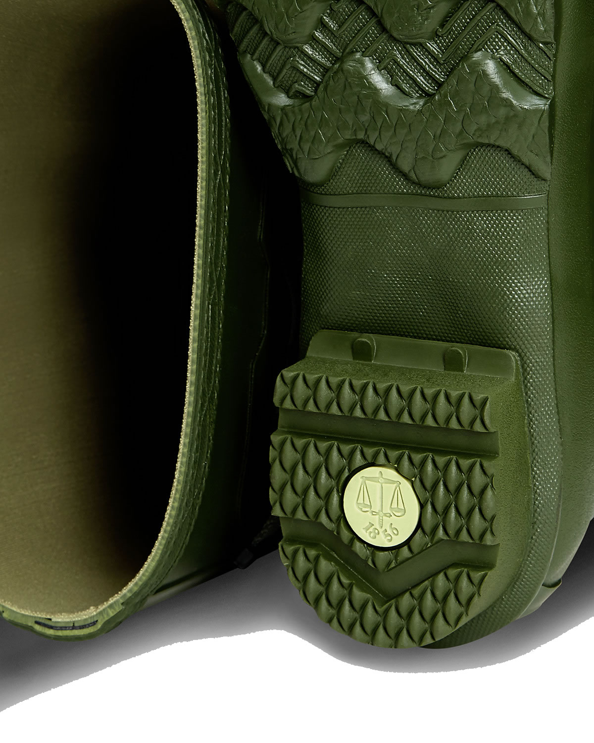 Extra image of Hunter Norris Field Neoprene Wellington Boots - Vintage Green UK 6