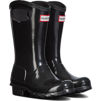 Image of Kids Original Pull On Hunter Wellies - Black
