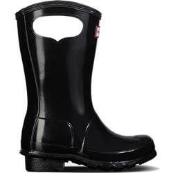 Extra image of Kids Original Pull On Hunter Wellies - Black