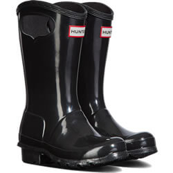 Small Image of Kids Original Pull On Hunter Wellies - Black