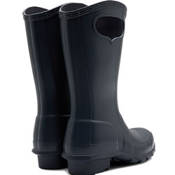 Extra image of Kids Original Pull On Hunter Wellies - Navy - UK 1