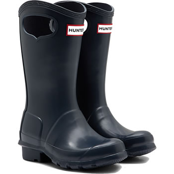Image of Kids Original Pull On Hunter Wellies - Navy - UK 1