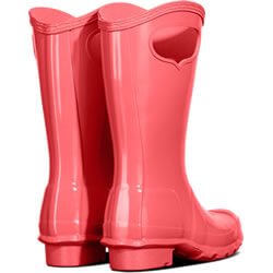 Extra image of Kids Original Pull On Hunter Wellies - Rhythmic Pink
