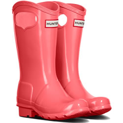 Small Image of Kids Original Pull On Hunter Wellies - Rhythmic Pink