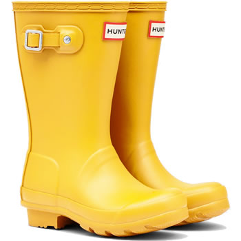 Image of Kids Original Hunter Wellies - Yellow UK 11