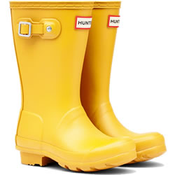 Small Image of Kids Original Hunter Wellies - Yellow UK 11