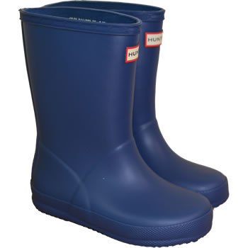 Image of Kids First Hunter Wellies - Peak Blue - UK 10