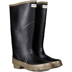 Small Image of Hunter Argyll Bullseye Wellington Boots Black UK 6