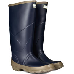 Small Image of Hunter Argyll Bullseye Wellington Boots Navy UK 10