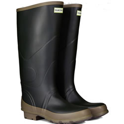 Small Image of Hunter Argyll Bullseye Wellington Boots Dark Olive