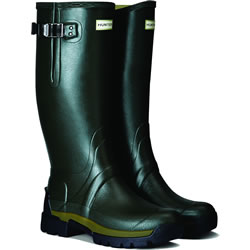 Small Image of Mens Hunter Balmoral Side Adjustable Wellies - Dark Olive UK 10
