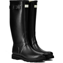 Small Image of Hunter Balmoral Field Wellington Boots - Black - UK 11