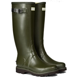 Small Image of Hunter Balmoral Field Wellington Boots - Dark Olive UK 7