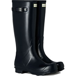 Small Image of Womens Hunter Norris Field Wellington Boots - Navy UK 9