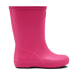 Extra image of Kids First Hunter Wellies - Bright Pink - UK 10 / EU 28
