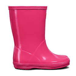 Extra image of Kids First Gloss Hunter Wellies - Bright Pink - UK 6 / EU 22/23