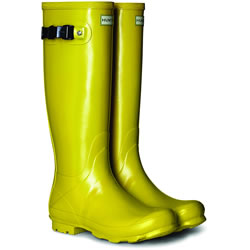 Small Image of Hunter Norris Field Gloss Wellington Boots - Sulphur UK 6