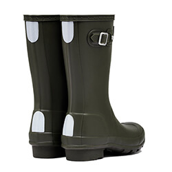 Extra image of Kids Original Hunter Wellies - Dark Olive - UK 13 / EU 32