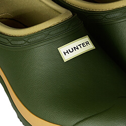 Extra image of Hunter Women's Field Gardener Clogs in Vintage Green
