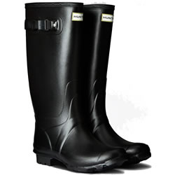 Small Image of Huntress Field Wide Calf Wellington Boots - Black UK 4