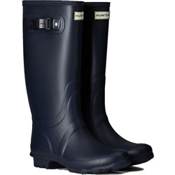 Small Image of Huntress Field Wide Calf Wellington Boots - Navy UK 6