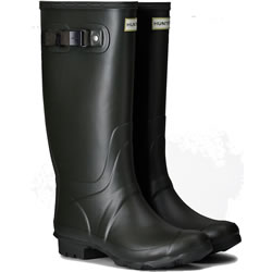 Small Image of Huntress Field Wide Calf Wellington Boots - Dark Olive UK 4