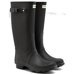 Small Image of Huntress Field Wide Calf Wellington Boots - Slate UK 7