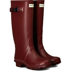 Small Image of Huntress Field Wide Calf Wellington Boots - Red Chestnut UK 4