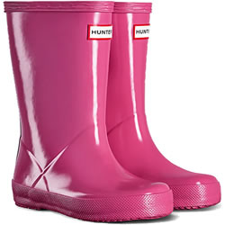 Small Image of Kids First Gloss Hunter Wellies - Fuchsia UK 12
