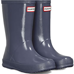 Small Image of Kids First Gloss Hunter Wellies - Mineral Blue UK 8