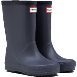 Small Image of Kids First Hunter Wellies - Mineral Blue UK 12