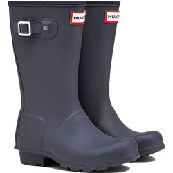 Small Image of Kids Original Hunter Wellies Mineral Blue UK 2