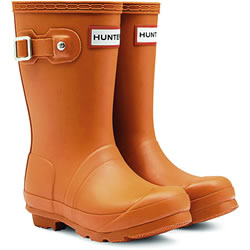 Small Image of Kids Original Hunter Wellies Iron Oxide