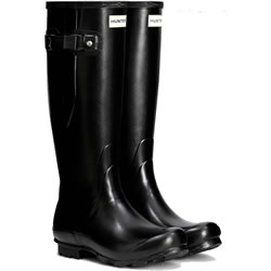 Small Image of Womens Hunter Norris Field Adjustable Wellington Boots - Black UK 5